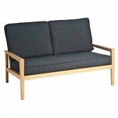 Alexander Rose Roble 2 Seater Sofa with Charcoal Cushions