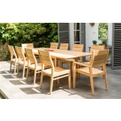 Alexander Rose Roble Mixed 10 Seat Extending Set