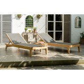 Alexander Rose Roble Lounge Sunbed with Side Table Set