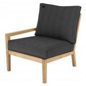 Alexander Rose Roble Lounge Left End, Charcoal