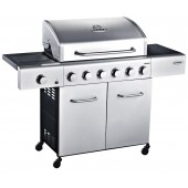 Outback Meteor Stainless Steel 6 Burner Gas BBQ