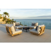 Alexander Rose Sorrento Teak 4 Seat and Coffee Table Set