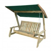 Alexander Rose Pine Farmers Swing Seat (Green)