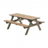 Alexander Rose Pine Woburn Picnic Table 5Ft