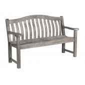 Alexander Rose Grey Painted Turnberry Bench 5ft