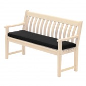 Alexander Rose Olefin 4Ft Bench Cushion Charcoal