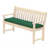 Alexander Rose Acrylic 5Ft Bench Cushion Green