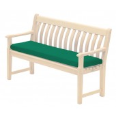 Alexander Rose Polyester 4Ft Bench Cushion Green
