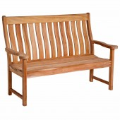 Alexander Rose Mahogany High Back Bench 5Ft
