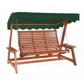 Alexander Rose Mahogany Swing Seat Green