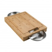 Napoleon Pro Carving Board with Stainless Steel Bowls