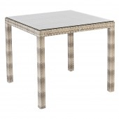 Alexander Rose Ocean Pearl Fiji Table 0.8X0.8M W. Glass