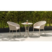 Alexander Rose Cordial Beige Bistro Set with HPL Top