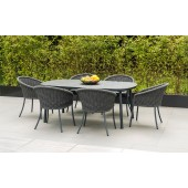 Alexander Rose Cordial Grey 6 Seat Dining Set with HPL Top