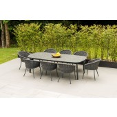Alexander Rose Cordial Grey 8 Seat Dining Set with HPL top