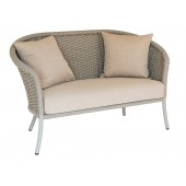 Alexander Rose Cordial Lounge Sofa Curved Top Beige Rope