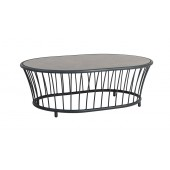 Alexander Rose Cordial Grey Oval Coffee Table with Pebble HPL Top 1.19m X 0.85m