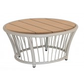 Alexander Rose Cordial Beige Side Table - Roble Top