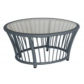 Alexander Rose Cordial Round Side Table Grey Frame 0.6M