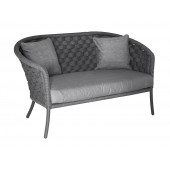 Alexander Rose Cordial Grey Wide Weave 2 Seater Sofa
