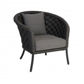 Alexander Rose Cordial Luxe Dark Grey Lounge Chair