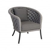 Alexander Rose Cordial Luxe Light Grey Lounge Chair