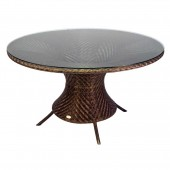 Alexander Rose Ocean Wave  Table Round 1.3M W.Glass