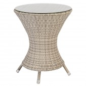 Alexander Rose Ocean Pearl Wave Bistro Table 0.6M W. Glass