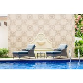 Alexander Rose Monte Carlo Grey Relax Lounger Set with Side Table