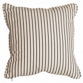 Alexander Rose Polyester Scatter Cushion Charcoal Stripe
