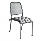 Alexander Rose Portofino Chair Cushion Charcoal Stripe