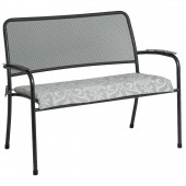 Alexander Rose Portofino Bench Cushion Grey
