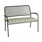Alexander Rose Portofino Bench Cushion Lime Stripe