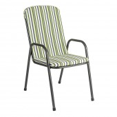 Alexander Rose Portofino Highback Green Stripe Seat Cushion