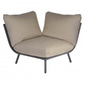 Alexander Rose Beach Lounge Corner Flint/Taupe