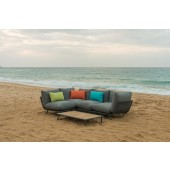 Alexander Rose Beach Lounge Flint/Grey Corner Sofa Set