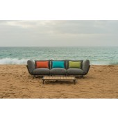 Alexander Rose Beach Lounge Flint/Grey 3 Seat Sofa Set