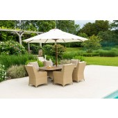Alexander Rose Richmond 6 Seat Oval Dining and Parasol Set