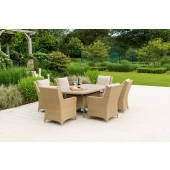 Alexander Rose Richmond 6 Seat Oval Dining Set