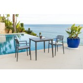 Alexander Rose Rimini Armchair 2 Seat Square Dining Set