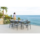 Alexander Rose Rimini Armchair 6 Seat Rectangular Dining Set