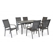 Kettler Surf 6 Seat Dining Set with Stacking Armchairs