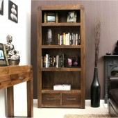 Shiro Walnut Large 2 Drawer Bookcase