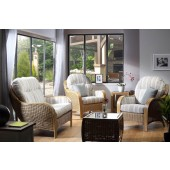 Desser Centurion Light Oak 3 Piece Suite with 2 Seater Sofa