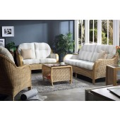 Desser Centurion Light Oak 3 Piece Suite with 3 Seater Sofa