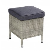 Hartman Curve Stool with Cushion - Cool Grey