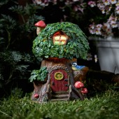 Elfin Oak Solar Powered Fairy House by Smart Garden