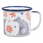 Folklore Sunrise and Sunset Enamel Mug - Bear