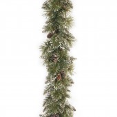 National Tree Company Glittery Bristle Pine 9ft x 10 inch Garland