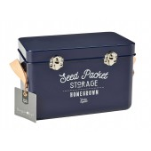 Burgon and Ball Seed Packets Storage Tin - Atlantic Blue